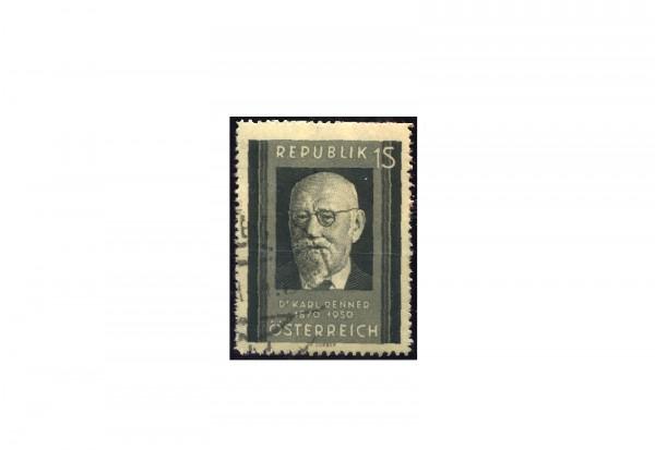 Österreich Einzelausgabe 1951 Tod von Karl Renner Michel Nr. 959 gestempelt