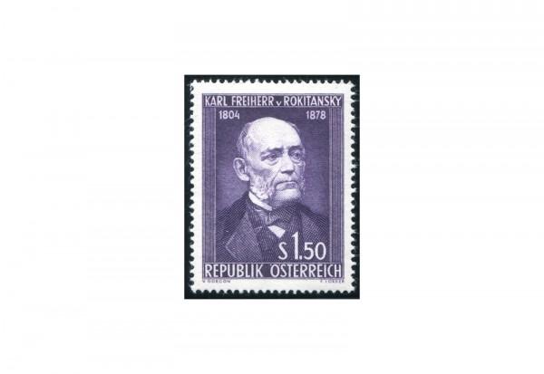 Österreich Einzelausgabe 1954 150. Geburtstag von Karl Freiherr von Rokitansky Michel Nr. 997 gestem