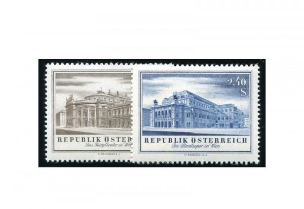 Österreich 1955 Wiedereröffnung des Burgtheaters und der Staatsoper Michel Nr. 1020/1 gestempelt