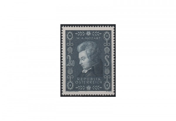 Österreich Einzelausgabe 1956 200. Geburtstag von Wolfgang Amadeus Mozart Michel Nr. 1024 gestempelt
