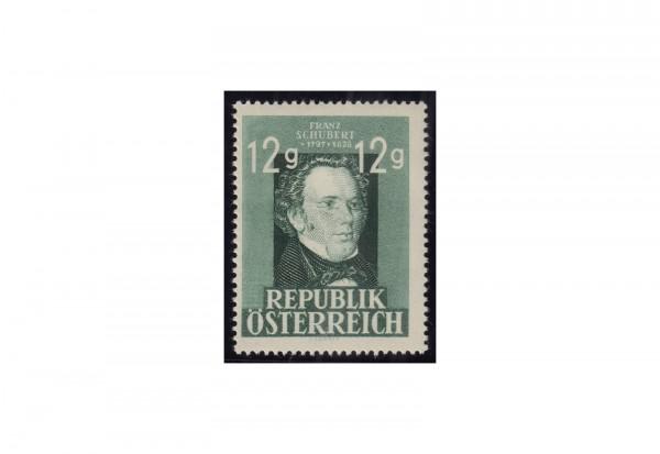Österreich 1947: 150. Geburtstag von Franz Schubert Michel Nr. 801 gestempelt