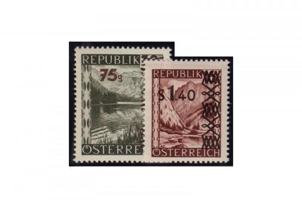 Österreich Freimarken 1947: Landschaften Michel Nr. 835/6 gestempelt