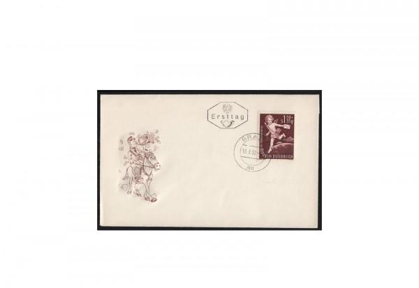 Österreich Ersttagsbrief FDC Michel-Nr. 972 Tag der Briefmarke 1952