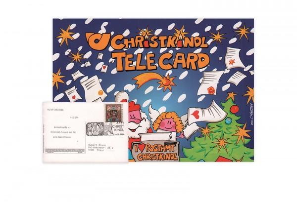 Österreich Christkindl Telecard 1994/1995 mit Stempel 24.12.1994
