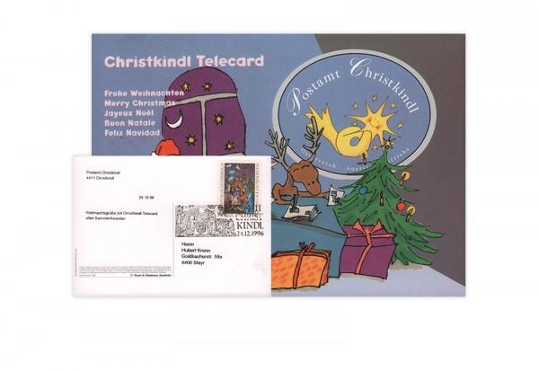 Österreich Internet-X-Mas-Card 1996/97 mit Stempel 29.11.1996