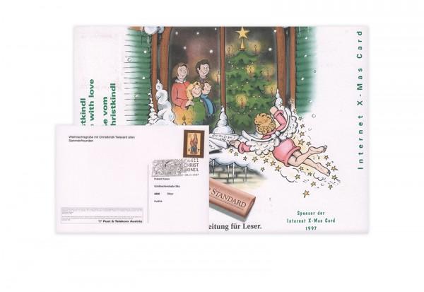 Österreich Internet-X-Mas-Card 1997/98 mit Stempel 24.12.1997