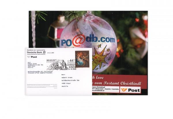 Internet-X-Mas-Card 1999/2000 mit Stempel 24.12.1999 Motiv B