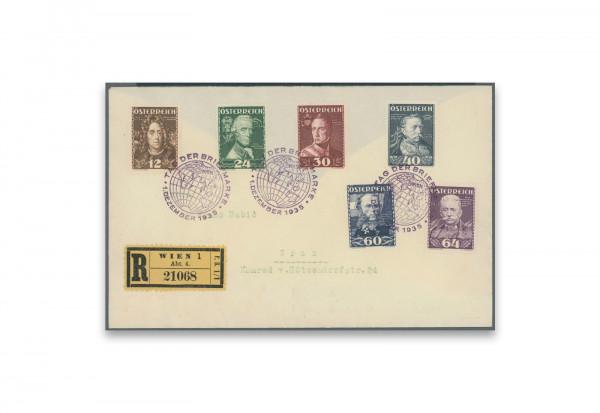 Briefmarken Österreich Heerführer 1935 Österreich Michel-Nr. 617/22 FDC gestempelt