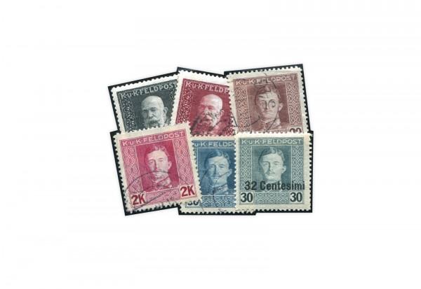 Österreich Feldpost I. Weltkrieg postfrisch und gestempelt
