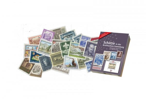 Briefmarken Österreich Fundgrube 200 Marken 1945-2000 inkl. PLF-Katalog postfrisch