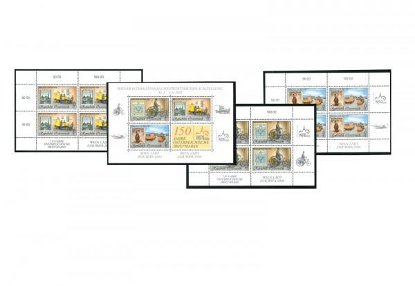 Briefmarken Österreich 2000 Michel Nr. 2222, 2270, 2292 und Block 14 Internationale Briefmarkenauss