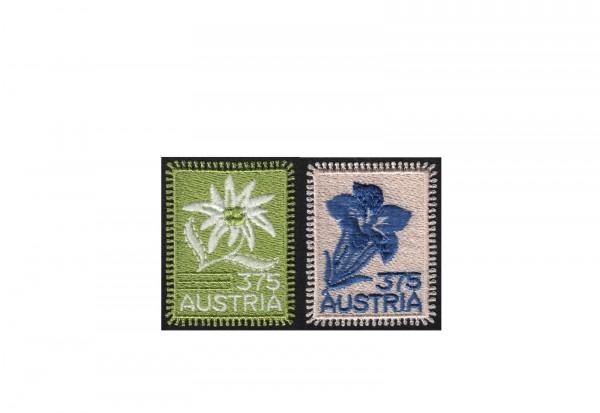 Österreich Stickereimarken im Set Michel-Nr. 2538+2773 postfrisch