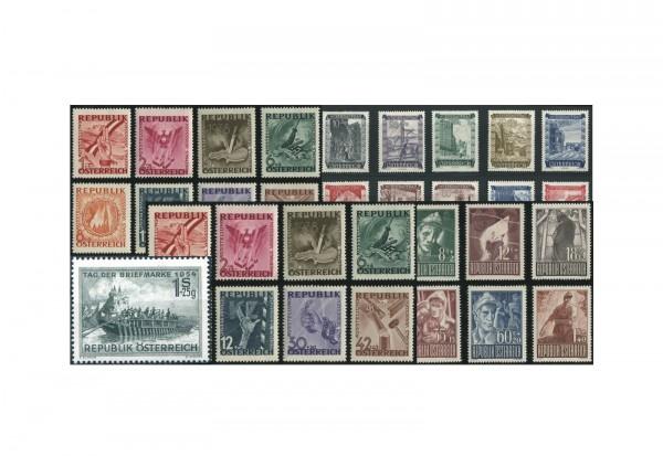 Briefmarken Österreich im Set 1945 bis 1955 postfrisch