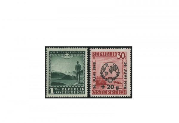 Briefmarken Österreich Wohlfahrt und UN 1945-1946 Michel-Nr. 720+771 postfrisch