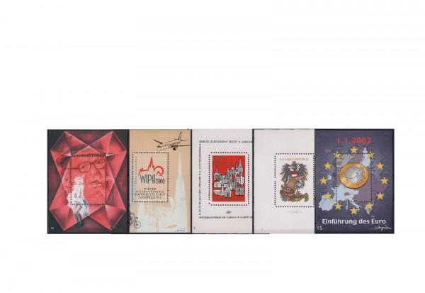 Österreich Kosel Schmuckblocks 5 verschiedene Ausgaben im Set postfrisch