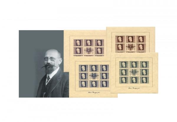 Österreich Renner-Kleinbogen Mi.Nr. 772/775 B postfrisch