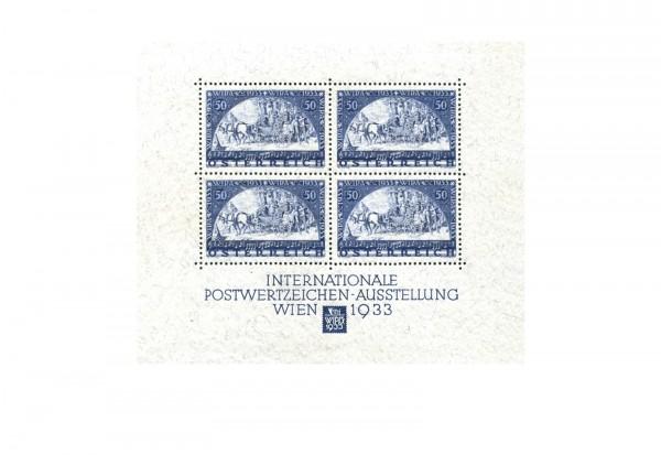 Briefmarken WIPA Block Österreich 1933 Block 1 postfrisch