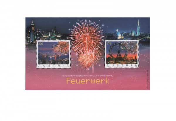 Österreich Feuerwerk-Block Wien-Hongkong Block 34 **