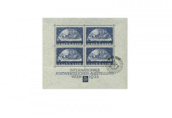 WIPA Block Österreich 1933 Block 1 gestempelt