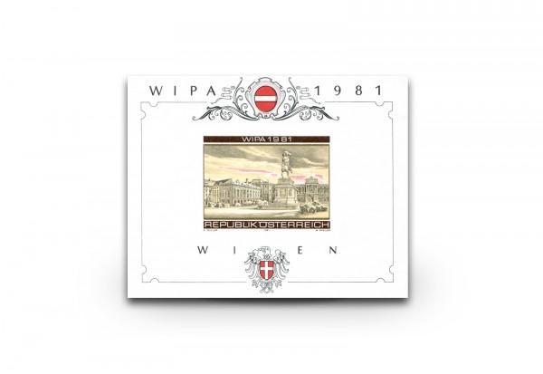 Ausstellungsblock Österreich WIPA 1981 ANK-Nr. N11 ungestempelt