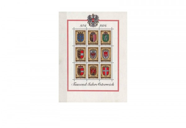 Österreich Block 4 ** Wappen der Bundesländer