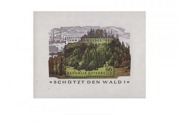 Österreich Block 7 ** Jahr des Waldes