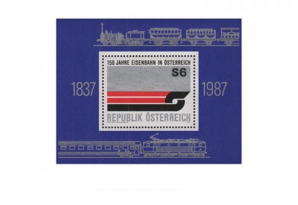 Österreich Block 9 ** 150 Jahre Eisenbahn