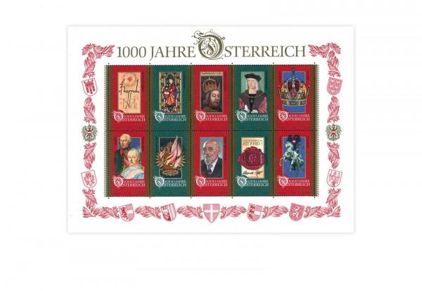 Österreich Block 12 ** 1000 Jahre Österreich