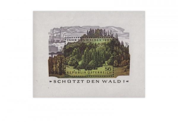 Österreich Block 7 gest. Jahr des Waldes