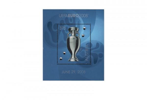 Österreich Fußball-Europameisterschaft 2008 Block 43 mit Swarovski-Kristallen gest.