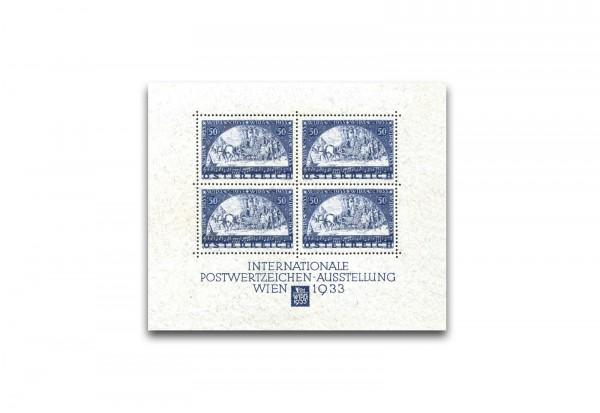 Briefmarken Block Österreich 1933 Block 1 mit Falz