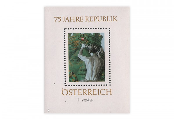 Österreich Kosel-Block 1993 -75 Jahre Republik 'Athene'