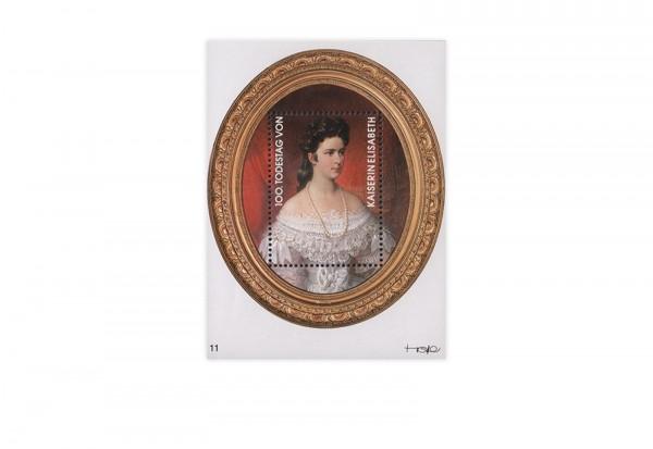 Briefmarke Österreich Kosel-Block 100. Todestag von Sissi 1998