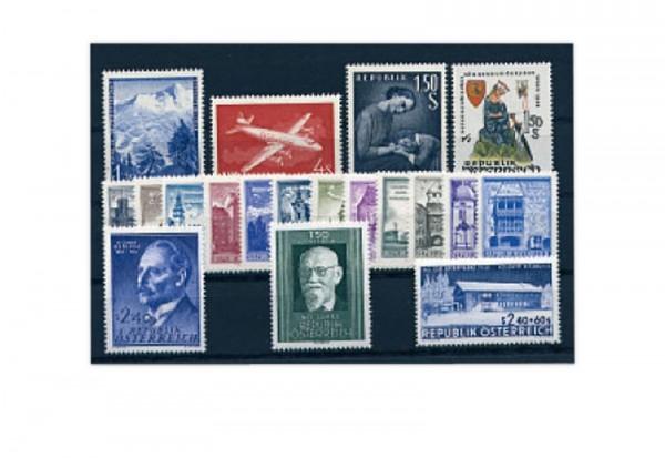 Briefmarken Jahrgang 1958 Österreich Michel-Nr. 1040-1058 postfrisch