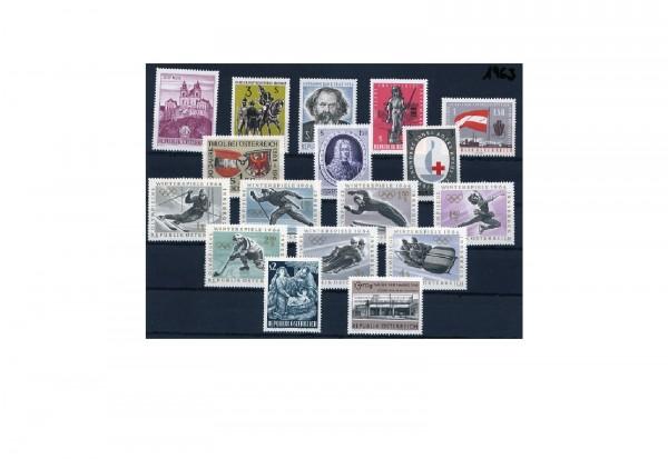 Österreich Jahrgang 1963 postfrisch