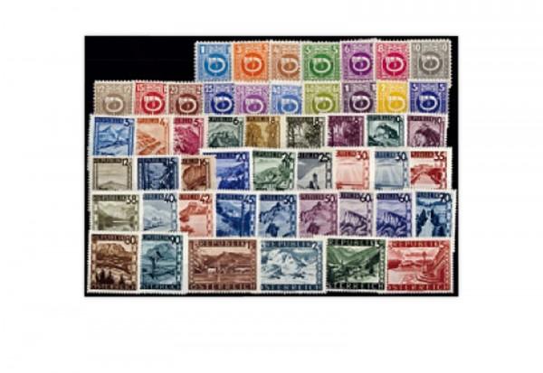 Briefmarken Österreich Jahrgang 1945 Michel-Nr. 721/770 postfrisch