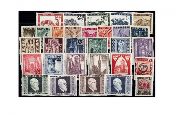 Österreich Mi.Nr. 771/800 Jahrgang 1946 postfrisch