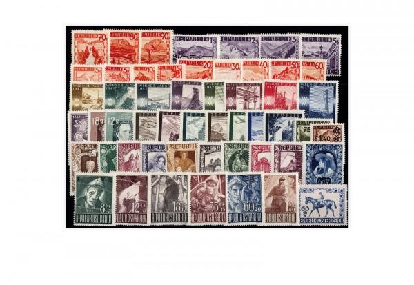 Österreich Mi.Nr. 801/853 Jahrgang 1947 postfrisch