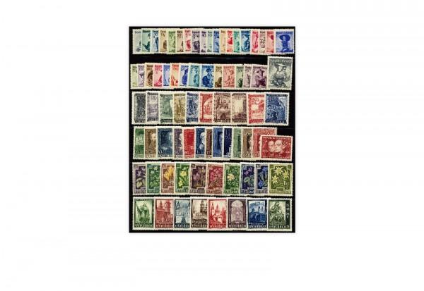 Österreich Mi.Nr. 854/928 Jahrgang 1948 postfrisch 75 Briefmarken