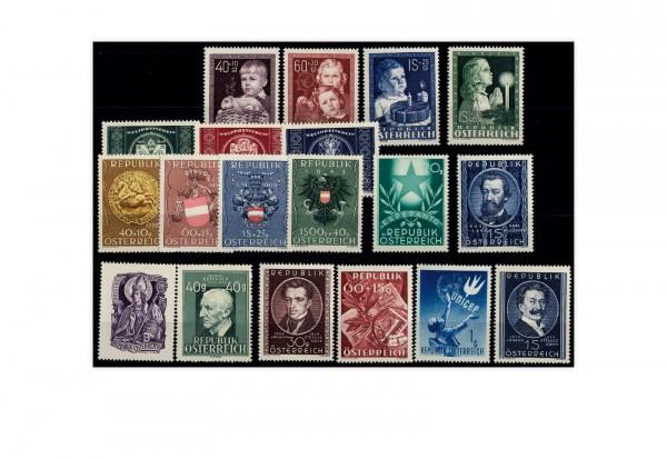 Briefmarken Österreich 19 Marken Jahrgang 1949 Michel-Nr. 929/947 postfrisch