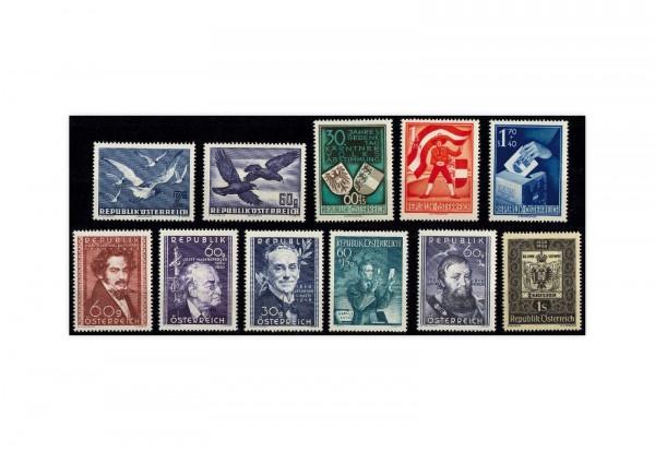 Briefmarken Österreich 11 Marken Jahrgang 1950 Michel-Nr. 948/958 postfrisch