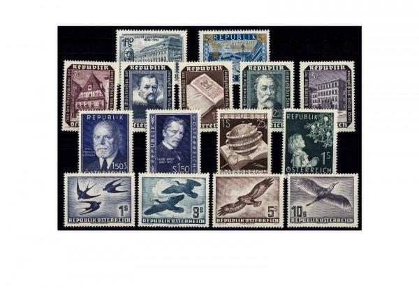 Österreich Mi.Nr. 981/995 Jahrgang 1953 postfrisch