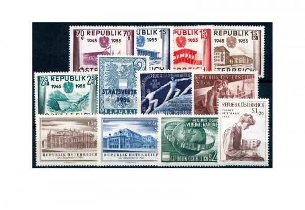 Österreich Jahrgang 1955 Mi.Nr. 1012-1023 postfrisch