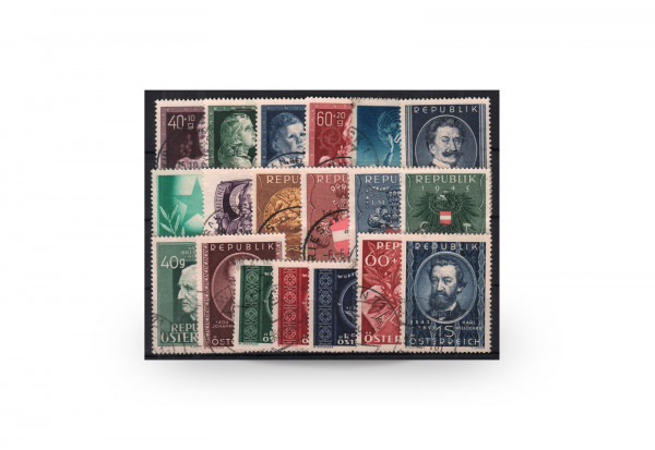 Österreich Mi.Nr. 929/947 Jahrgang 1949 gestempelt 19 Briefmarken