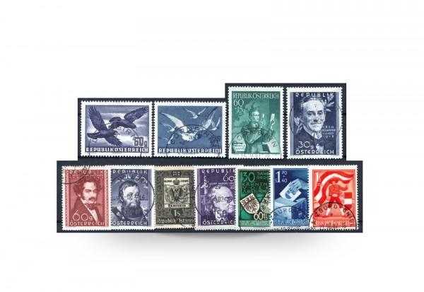 Österreich Mi.Nr. 948/958 Jahrgang 1950 gestempelt 11 Briefmarken