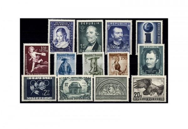 Österreich Jahrgang 1952 gestempelt 13 Briefmarken