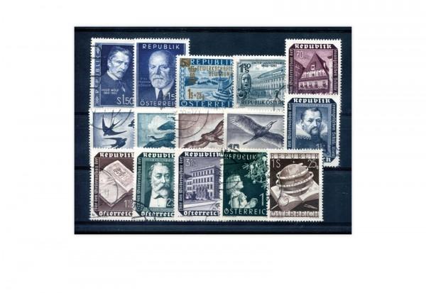 Österreich Mi.Nr. 981/995 Jahrgang 1953 gestempelt 15 Briefmarken