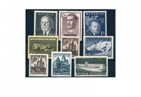 Österreich Jahrgang 1957 gestempelt