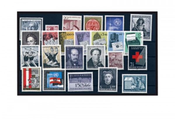 Österreich Mi.Nr. 1177/1200 Jahrgang 1965 gestempelt 24 Marken
