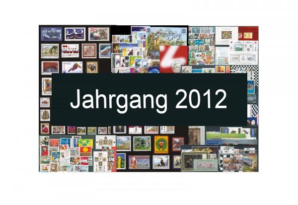 Österreich Jahrgang 2012 Michel Nr. 2971 bis 3042 gestempelt
